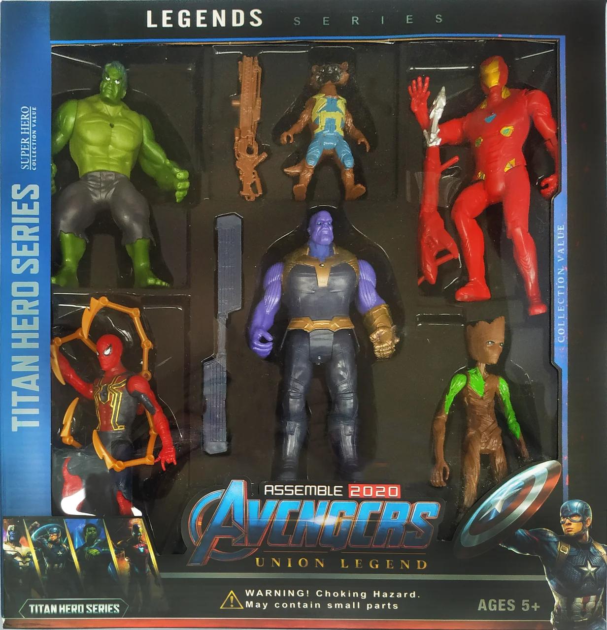 Набор герои Марвел персонажи супергероев Мстители