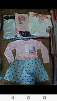 Плаття для дівчинки на 3-7 років персикового, сірого, бежевого, молоко, рожевого, синього кольору оптом