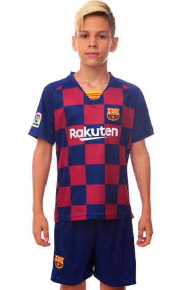 Форма футбольная детская BARSELONA домашняя 2020 co0961 ріст: 140-145