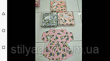 Плаття для дівчинки на 3-7 років персикового, сірого, рожевого кольору зайчик оптом