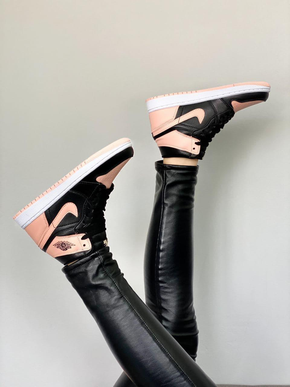 Кроссовки мужские Air Jordan Retro High Peach/Black