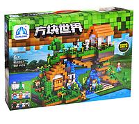 Большой детский конструктор Майнкрафт. Игрушка детский конструктор для мальчиков.