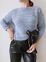 Вязаный свитер с укороченным рукавом и со спущеной линией плеча (р. 42-44) 77dmde1048, фото 1