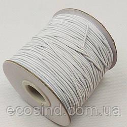 1 мм Резинка круглая (шляпная) белая 100 ярд. (СИНДТЕКС-0751)