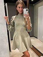 Коротке плаття бюстьє з розкльошеною спідницею і рукавами-ліхтариками (р. S, M) 83mpl1833, фото 1