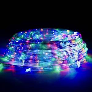 Дюралайт LED Уличный 20 метров Мультицвет RGB с Переходником 220V