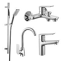 Набір змішувачів для ванни та кухні (4 в 1), kit30095