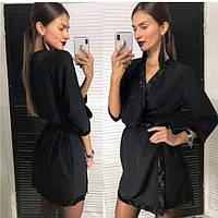 Короткое платье халат на запах с отделкой из пайеток (р. 42-44) 83mpl1863, фото 1