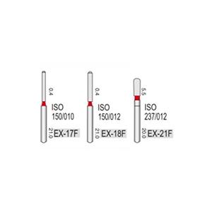 Турбінні бори алмазні дрібної абразивності (53-63μ) EX - спеціальна форма
