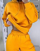 Теплый спортивный костюм на флисе с худи и штанами (р. 42 - 52) 20msp1181, фото 1