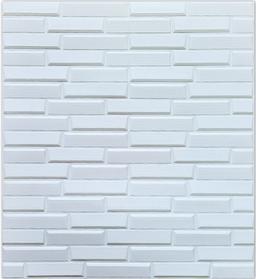 3Д панели самоклеющиеся для стен под кирпич рельефный Белый, 8 мм