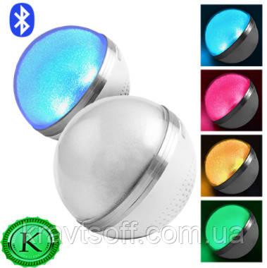 Bluetooth-колонка HAPPY MUSIC BOLL M8, speakerphoneматовый, шар перламутровый