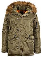 Зимняя куртка аляска Alpha Industries Slim Fit N-3B Parka MJN31210C1 (Vintage Olive)