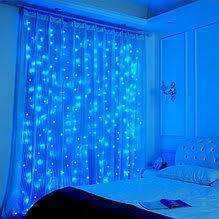 Неоновая Гирлянда Водопад Синяя Светодиодная LED Штора 3 х 2 метра Силиконовая, фото 2