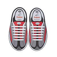 Комплект дитячих силіконових шнурків Coolnice (білі) - 12шт. в компл.