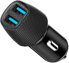 Автомобільний зарядний пристрій Promate Voltrip-Duo 17Вт 2 USB Black