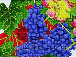 Алмазная мозаика 30*40 см Осенний виноград