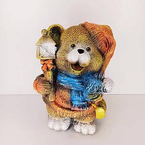Скарбничка Ведмедик з ліхтарем 29 см