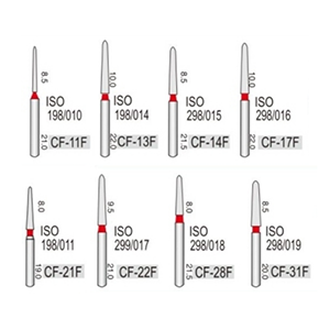 Турбінні бори алмазні дрібної абразивності (53-63μ) CF -конусний з піко-образним кінчиком