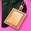 Золотая ладанка Николай Чудотворец - Кулон иконка Святой Николай - Підвіска Святий Миколай, фото 4