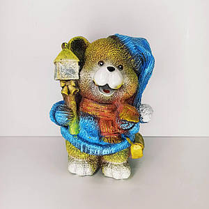 Сувенір-скарбничка Ведмедик з ліхтарем 29 см