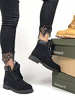 Жіночі черевики Timberland Premium full black (хутро) зима, чорні. Розміри (36,37,38,39,40,4144), фото 1