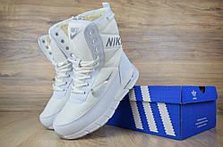 Женские зимние сапоги Nike Zoom White, белые. Размеры (36,37,38,39,40,41)