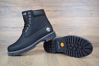 Жіночі зимові черевики TImberland Classic Boot Black Leathter (на хутрі), чорні. Розміри (36,37,38,39,40,41), фото 1