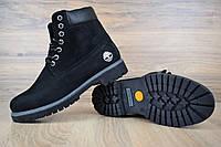 Женские зимние ботинки TImberland Classic Boot Black (на меху), чёрные. Размеры (36,38,39,40,41), фото 1