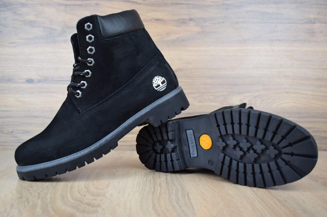 Женские зимние ботинки TImberland Classic Boot Black (на меху), чёрные. Размеры (36,38,39,40,41)