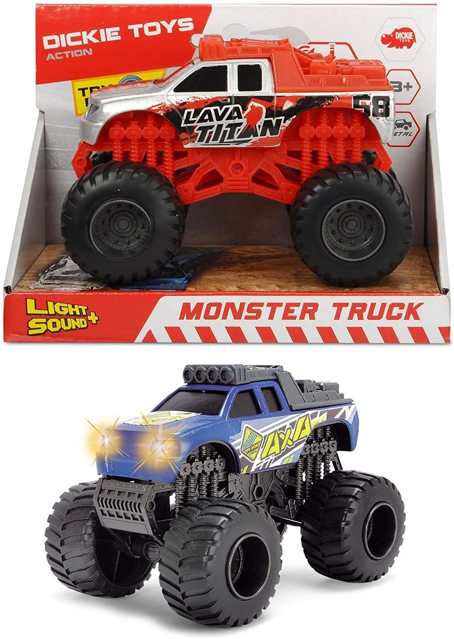 Машина Монстер Трак со звуковыми и световыми эффектами Dickie Toys 3752010