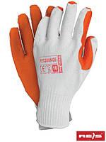 Перчатки защитные с покрытием и резинкой RECORANGE WP