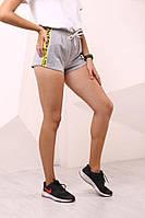 Женские серые шорты Off White с лампасами