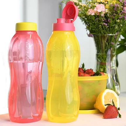 Еко пляшка (1,5 л) Tupperware (жовта з гвинтовою кришкою), фото 2