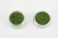Глиттер светло-зеленый 850 0,2 мм 1/128 Для маникюра тату боди-арта ногтей губ глаз 2 мл