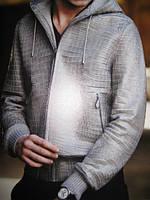 Мужская куртка из крокодила с капюшоном