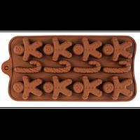 Силиконовая форма для конфет - Пряничный человечек
