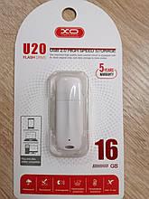 Флешка USB XO U20 16Gb біла