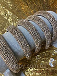 Об'ємний обруч з кристалами Swarovski висотою 3 см, фото 2