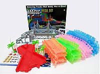 Детская гибкая игрушечная дорога Magic Tracks конструктор 360 деталей светящаяся гоночная трасса Меджик Трек