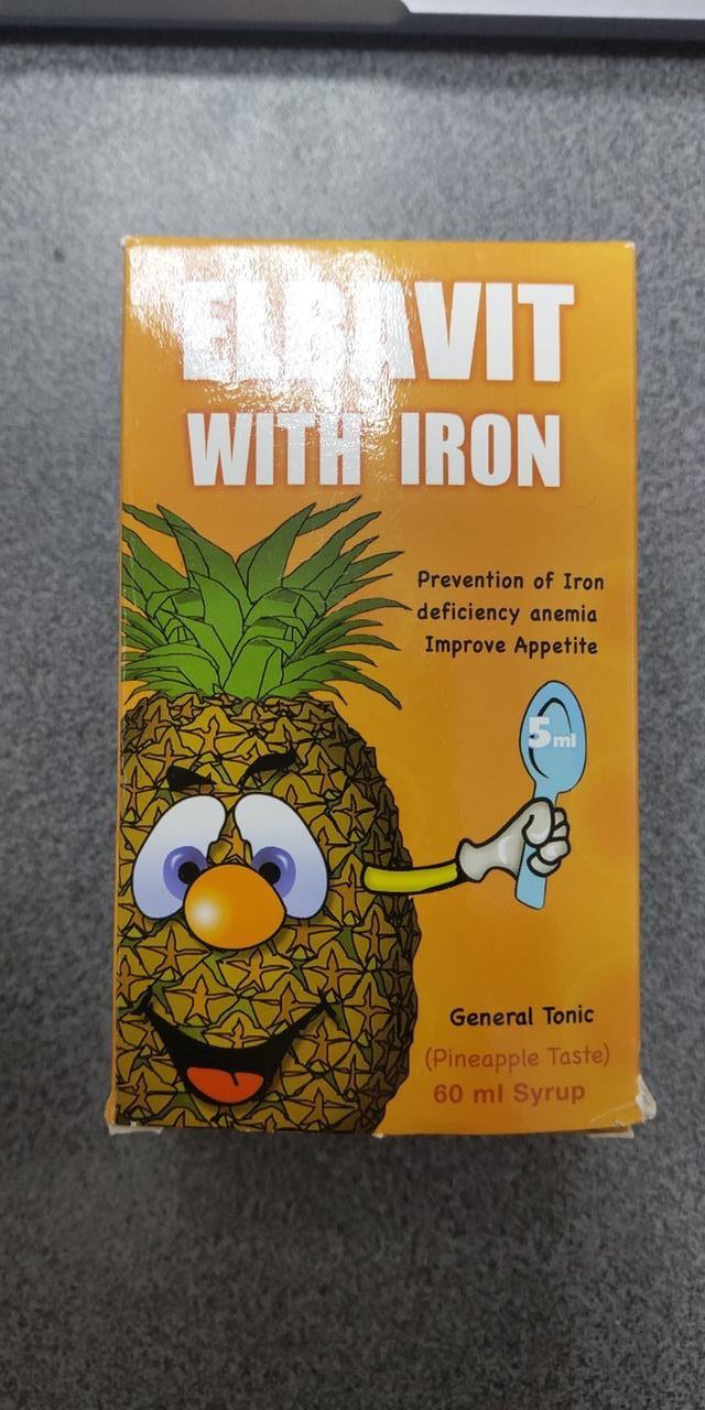 Полівітамінний сироп з кальцієм і вітаміном D3 для дітей і дорослих Elbavit, Єгипет 60 мл + залізо і біотин