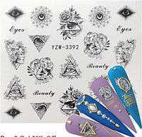 Слайдер водный для дизайна ногтей YZW-3392