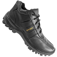 """Ботинки  """"SPORT"""" мужские зимние натуральная кожа черные"""