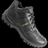 """Ботинки  """"SPORT"""" мужские зимние натуральная кожа черные, фото 1"""