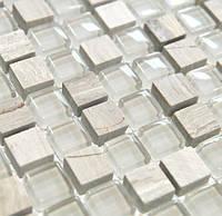 Китайский микс мозаика из стекла и мрамора DAF 14, фото 1