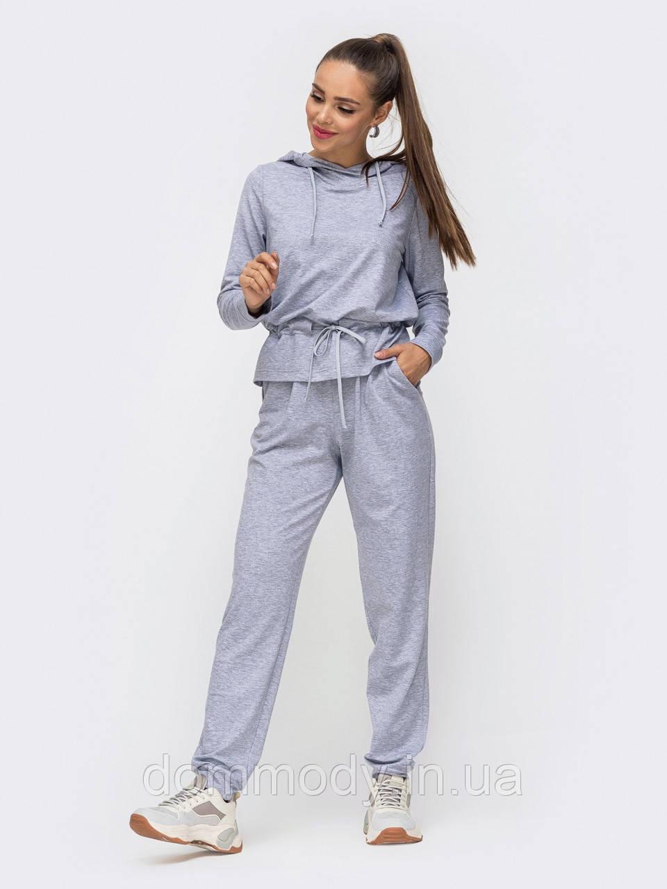 Костюм женский в стиле sport-casual gray