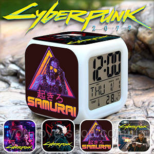 """Настольные часы Киберпанк 2077 """"Samurai"""" / Cyberpunk 2077"""
