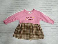 Детское трикотажное платье для девочки Kabi 1-4 года, цвет уточняйте при заказе, фото 1