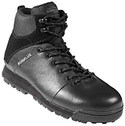 Тактические черные ботинки Surplus. Кожа
