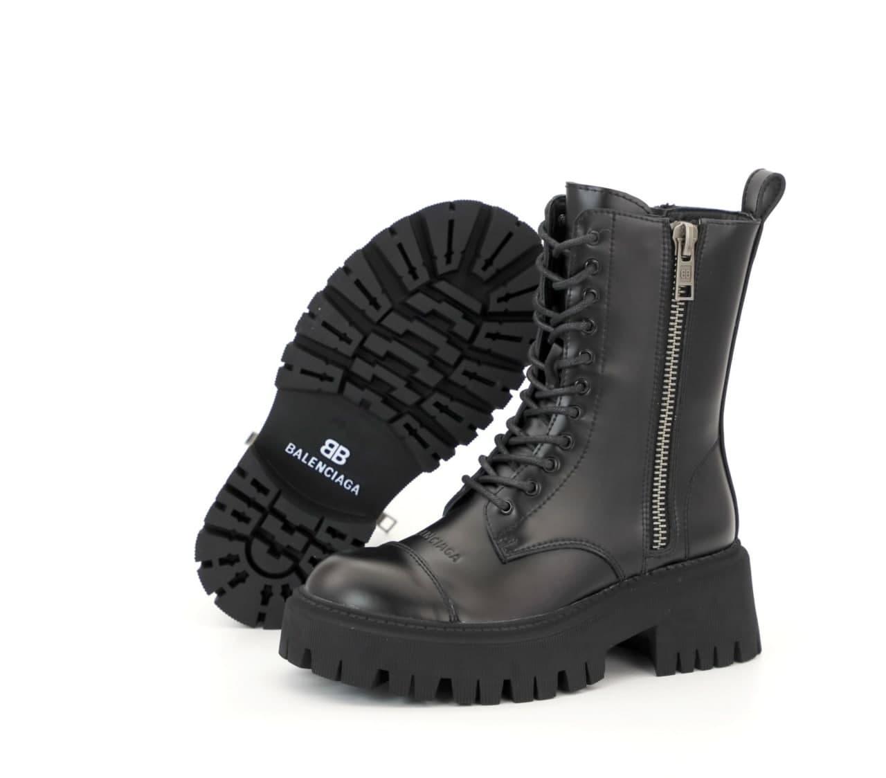 Женские ботинки Bаlenсіagа Tractor 31866 черные